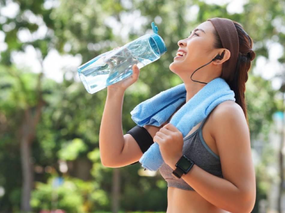 Não te esqueças de beber muita água